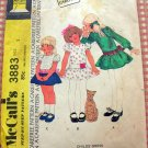 Toddler's Dropwaist Dress McCall's 3883 Vintage Sewing Pattern