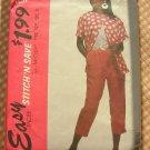 Plus Size Misses Cropped Pants, Shirt 90s Vintage Sewing Pattern McCalls 5917