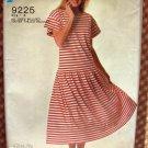 Misses Pullover Dress Vintage 80s Pattern Simplicity 9225
