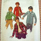 Boy's 70s Cowboy Shirt Pattern Simplicity 6641 Size 10 and 12