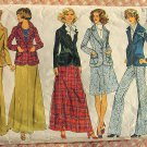 Misses Maxi Skirt Jacket and Pants Vintage Sewing Pattern Simplicity 6677