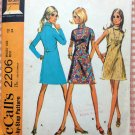 Mini Dress 60s Vintage Sewing Pattern McCall's 2206