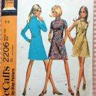 Mini Dress 60s Vintage Sewing Pattern McCall's 2206