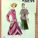 Flared Skirt and Tunic Top Kwik Sew 625 Vintage Sewing Pattern
