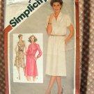Misses Pullover Dress Vintage 80s Pattern Simplicity 9865