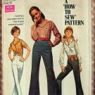 Juniors High Waisted Jeans and Crop Top Vintage 60s Sewing Pattern Simplicity 8009