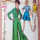 Misses Culottes, Skirt and Blouse Vintage 60s Sewing Pattern Simplicity 5975