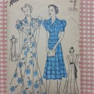 Misses 30s Evening Gown, Housecoat or Dress Vintage Sewing Pattern Advance 1822