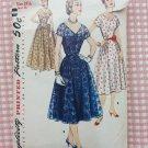 Misses 50s Plus Size Evening Dress Vintage Sewing Pattern Simplicity 1138