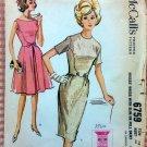 Misses Large Slim Dress McCalls 6759 60s Vintage Sewing Pattern