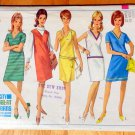 Mod 60s Misses' One-Piece Dress or Jumper Vintage Sewing Pattern Simplicity 6536