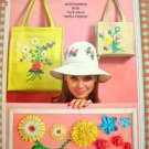 Simplicity 6430 Sun Hat, Bags and Rick-Rack Flowers Vintage 60s Sewing Pattern