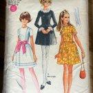 Mod 60s Teen Dress Vintage Sewing Pattern Simplicity 7732