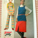 Tunic, Skirt and Pants Vintage 70s Sewing Pattern Simplicity 9161