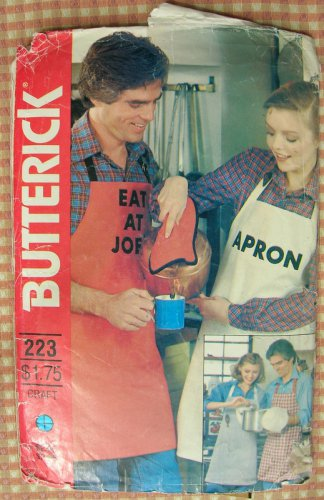 Apron, Mitt and Potholder Vintage Sewing Pattern Butterick 223