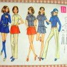 Misses Shorts, Skirt, Blouse & Pants Vintage 70s Pattern Butterick 5705