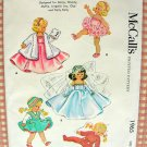 "McCall's Vintage 50s Sewing Pattern 1965 7"" - 8"" Diminutive Doll's Wardrobe"