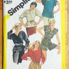Misses 80s Tops Vintage Sewing Pattern Simplicity 6373