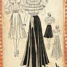 Misses 1930s Evening Gown or Dress Vintage Sewing Pattern Butterick 8485