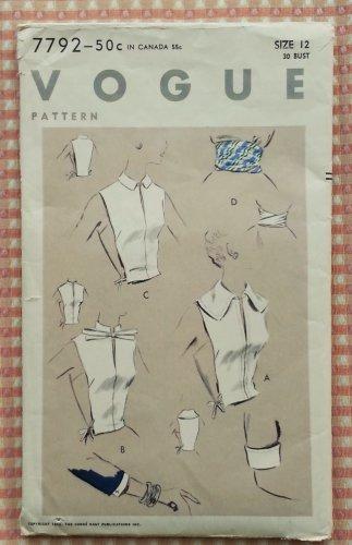 Misses Accessories Vintage 50s Sewing Pattern Vogue 7792