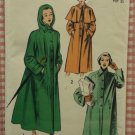 Misses Vintage 50s Coat and Raincoat Advance Sewing Pattern 5296