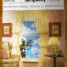 Simplicity 8996 Craft Pattern from the 80s for Curtains