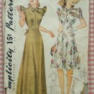 Misses' Evening Gown or Day Dress Vintage 40s Simplicity Pattern 3835