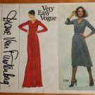 Vintage 70s Diane Von Furstenberg Dress sewing pattern Vogue 1729