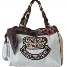 Juicy Couture Handbag QUEEN OF PREP DAY DREAMER Grey