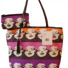 Betsey Johnson Handbag Marilyn Med Shopper Purple