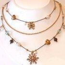 Betsey Johnson Jewelry Snow Angel Triple Layer Snowflak