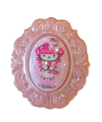 Tarina Tarantino Hello Kitty Baroque Cameo Ring Pink