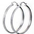 Simply Silver Crystal Hoop Earrings Large
