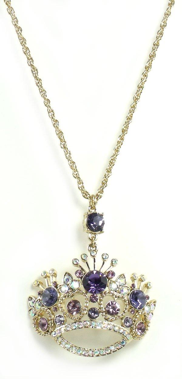Betsey Johnson Jewelry Tzarna Princess Long Crown Necklace