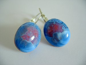 LOOK, it's icing up--- porcelain crystalline oval earrings by C.C.