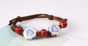HANDMADE Porcelain beads bracelet colorful candy