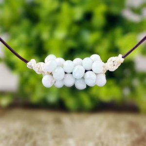 HANDMADE Porcelain beads necklace