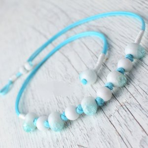 HANDMADE Porcelain beads necklace