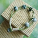 HANDMADE Porcelain beads bracelet blue