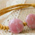 HANDMADE Porcelain beads bracelet sweet pink