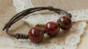 HANDMADE Porcelain beads bracelet