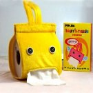 Yellow Hanging Roll Tissue Paper Box Case Holder Car Seat