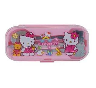 Cute Kitty Tableware Set (Pink)