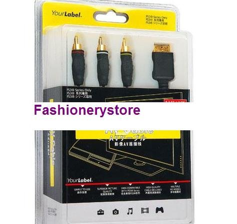 PlayStation 3 Video and Audio AV Cable PS3 2.5M