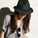 Style Casual Straw Hat Black