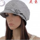 Bowknot Side Simple Designed Hat Grey