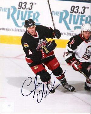 Lyle Odelein Columbus Blue Jackets signed 8x10 photo