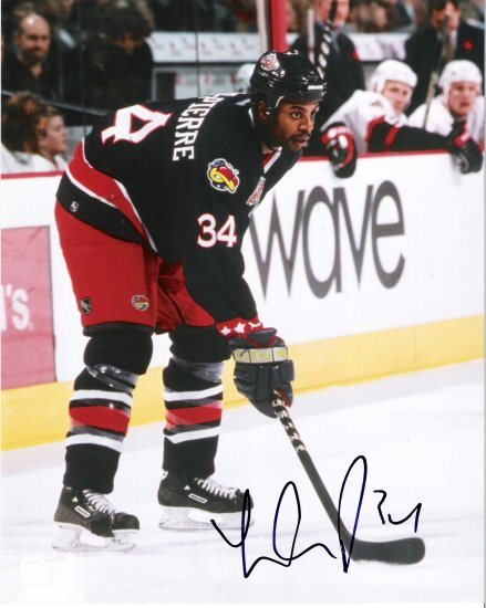Jean-Luc Grand-Pierre Columbus Blue Jackets signed 8x10 photo