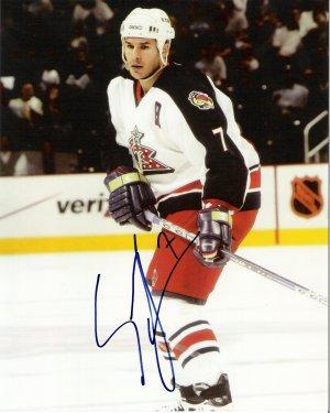 Scott Lachance Columbus Blue jackets signed 8x10 photo