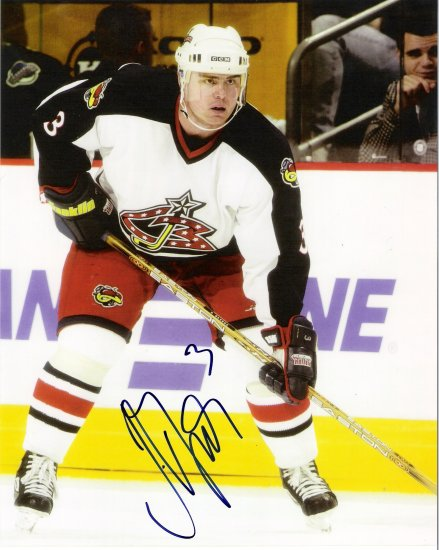Jaroslav Spacek Columbus Blue Jackets signed 8x10 photo